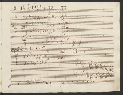Carl Maria von Weber, 2.Klavierkonzert Es-Dur op. 32, Seite 5. Einsatz des Klavieres © Staatsbibliothek zu Berlin - PK