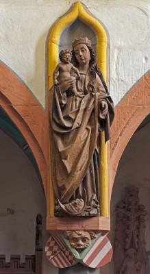 Unbekannter Künstler, Mondsichelmadonna, um 1520 Schlosskirche St. Georg und Marien, Mansfeld