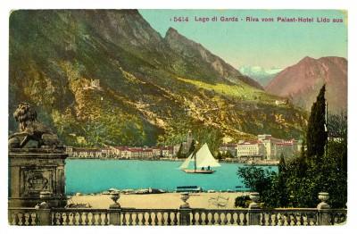 Bildpostkarte aus Riva am Gardasee von Franz Kafka an Ottla, 7.9.1909