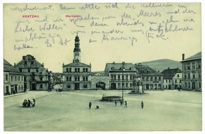 Bildpostkarte aus Kratzau von Kafka an Ottla, 25.2.1911