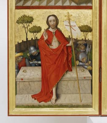 Heilig-Geist-Retabel, linker Innenflügel (Detail): Auferstehung Christi