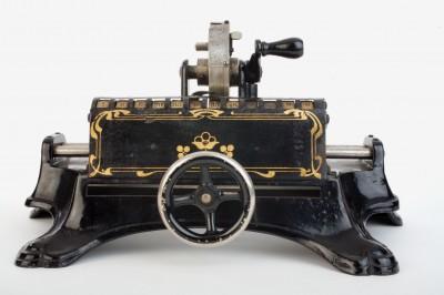 Rechenlernspielzeug der Nähmaschinenfirma Müller, ca. 1905