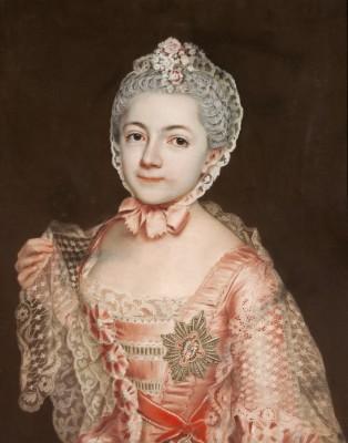 Christoph Friedrich Reinhold Lisiewsky, Porträt der Henriette Catharina Agnese von Anhalt-Dessau, um 1763 © Kulturstiftung DessauWörlitz, Bildarchiv / Heinz Fräßdorf