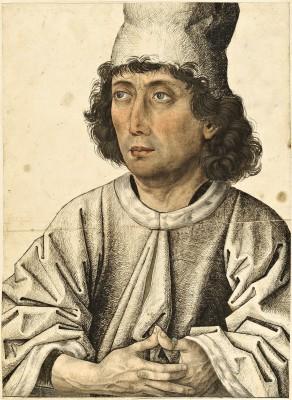 Süddeutsch (Bayern ?), um 1470/80, Meister des Mornauer Bildnisses, Bildnis eines jungen Mannes Feder in Schwarz, Aquarell und Deckfarben, 32,5 x 23,6 cm © Stiftung Preußischer Kulturbesitz
