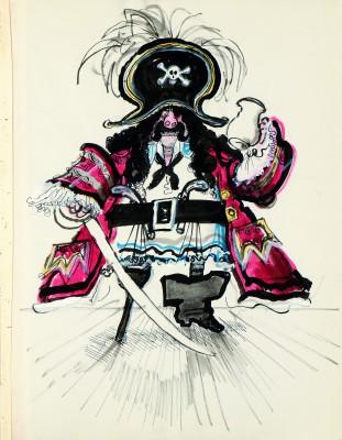 """Ronald Searle, Dick Deadeye, o. J., aus dem Skizzenbuch """"Dick Deadeye"""" Deutsches Museum für Karikatur und Zeichenkunst - Wilhelm Busch"""