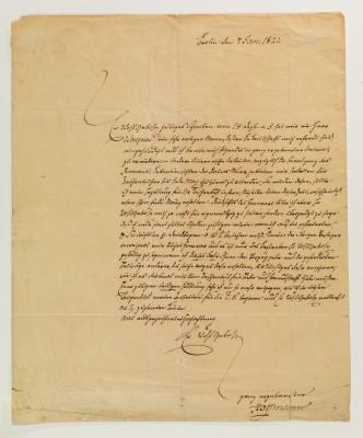 E.T.A. Hoffmann Brief an einen Verleger. Berlin, 7. Januar 1821