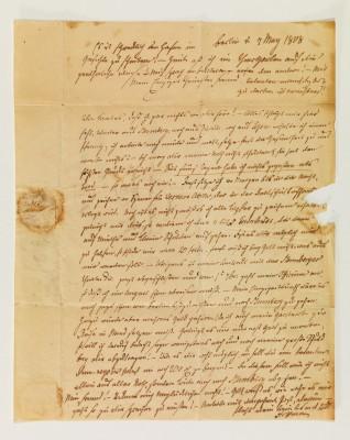 E.T.A. Hoffmann Brief an Theodor Gottlieb von Hippel, Berlin, 7. Mai 1808
