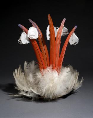 Zoró, Federkopfschmuck. Arafedern, Adlerdaunen, Palmblatt © Staatliches Museum für Völkerkunde München; Foto: M. Weidner
