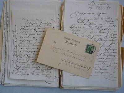 Briefe von Theodor Fontane an Georg Friedlaender Rechtevermerk: TFA, Delf von Wolzogen
