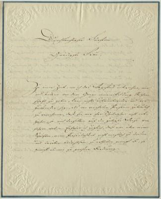 Brief Goethes an Friederike vom 30.12.1811 aus der Hand seines Sekretärs Riemer