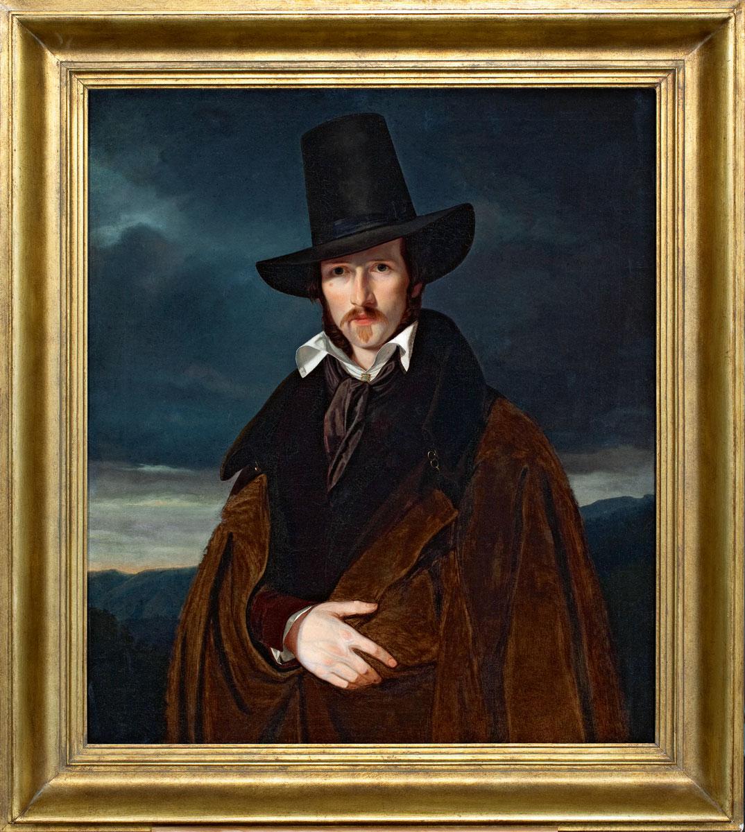Wilhelm Bendz, Bildnis des Münchner Malers Wilhelm von Kaulbach, 1832, 92,5×79,5 cm; Museum Bad Arolsen