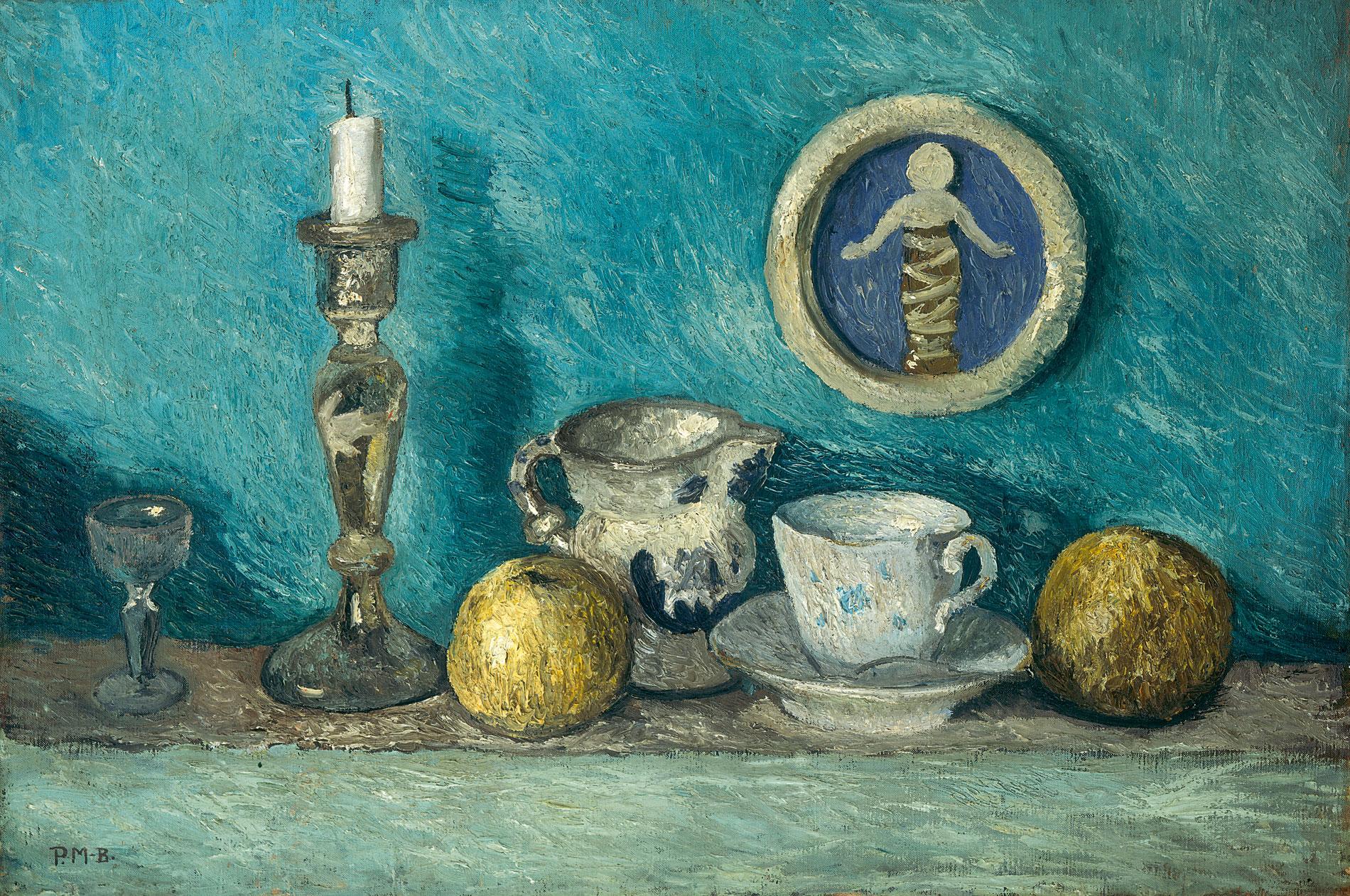 Paula Modersohn-Becker, Stillleben mit Robbia-Putto, um 1905, 50×75 cm; Kunsthalle Bremen