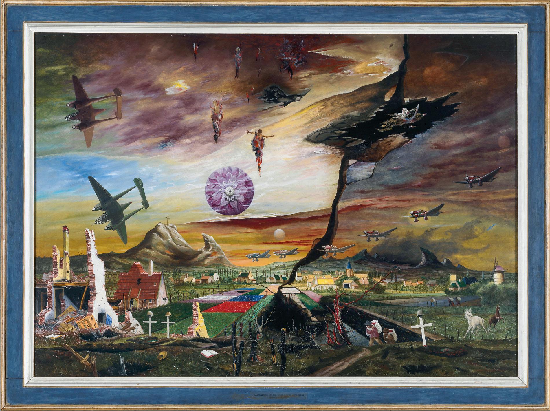 Franz Radziwill, Flandern – Wohin in dieser Welt?, 1940–1950, 119×170 cm; Neue Nationalgalerie, Berlin