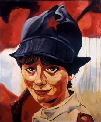 Martin Kippenberger, Sympathische Kommunistin, 1983, 180×150 cm, Museum Ludwig, Köln