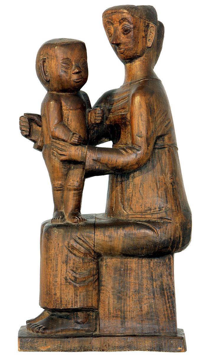 Gerhard Marcks, Sitzende Mutter mit Kind, 1924, Höhe 77 cm; Gerhard-Marcks-Haus