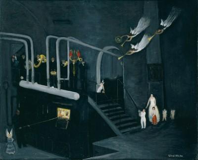 Albert Ebert, Heizers Geburtstagsständchen II, 1956, 37,5×46 cm; Neue Nationalgalerie, Berlin