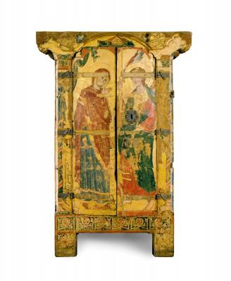 Reliquienschrank aus der Liebfrauenkirche, 2.Viertel 13. Jh., 199×105 (135)×69 cm; Domschatz Halberstadt