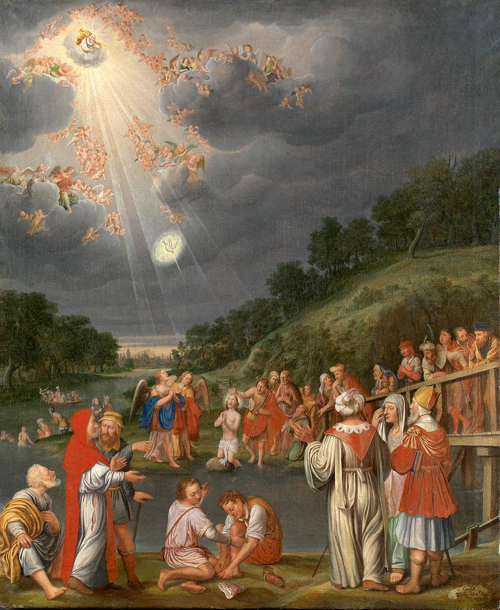 Wolfgang Heimbach, Taufe Christi, 1670er Jahre, 115×93,5 cm; Stadtmuseum Coesfeld