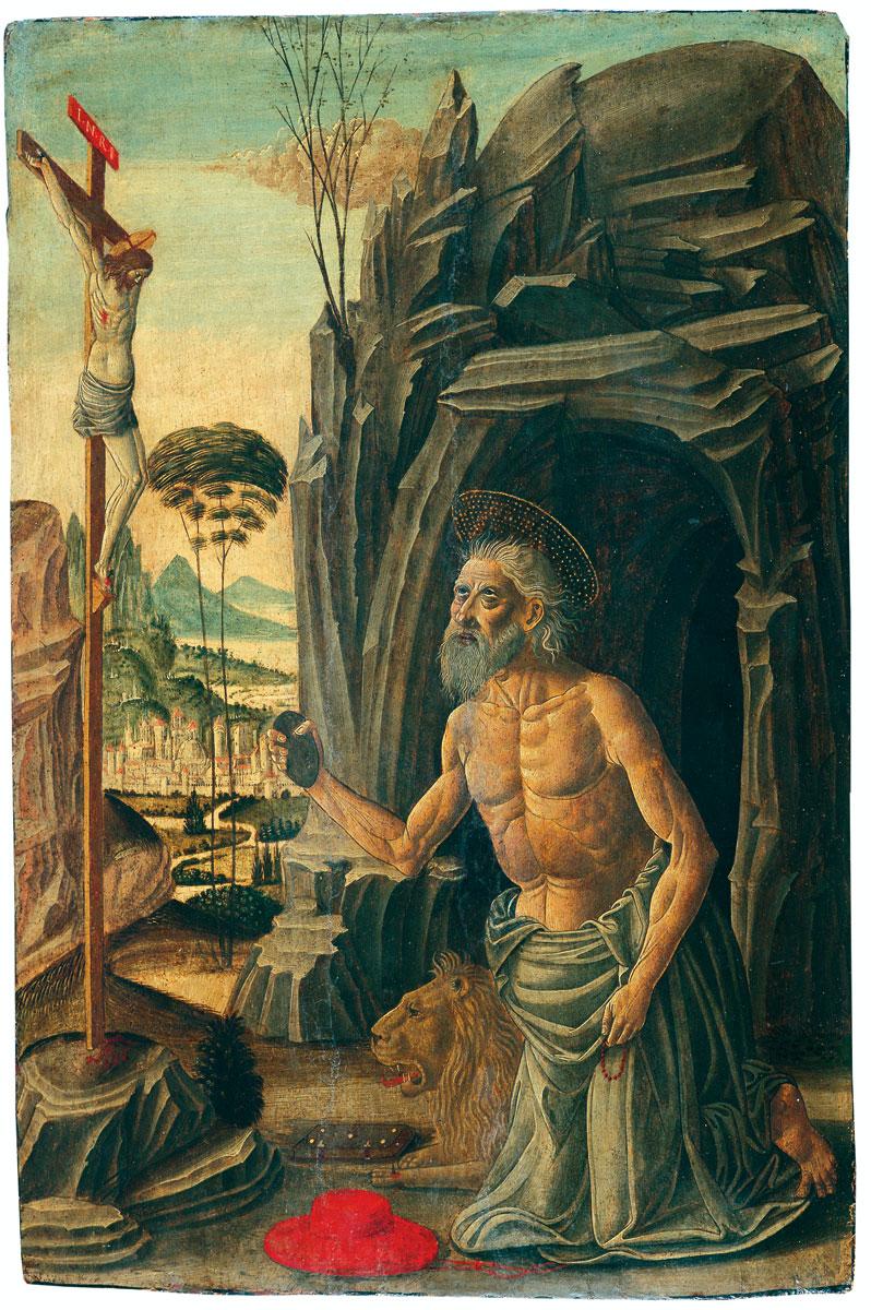 Meister Esiguo, Heiliger Hieronymus als Büßer, um 1500, 55 × 36,5 cm