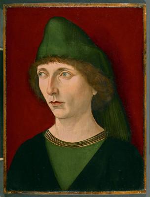 Nürnberger Meister, Bildnis eines jungen Mannes, um 1480, 29×21 cm; Gemäldegalerie, Berlin