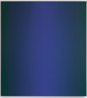 Johannes Geccelli, Im Schatten, 2006, 200×180 cm; Kunstmuseum Dieselkraftwerk Cottbus