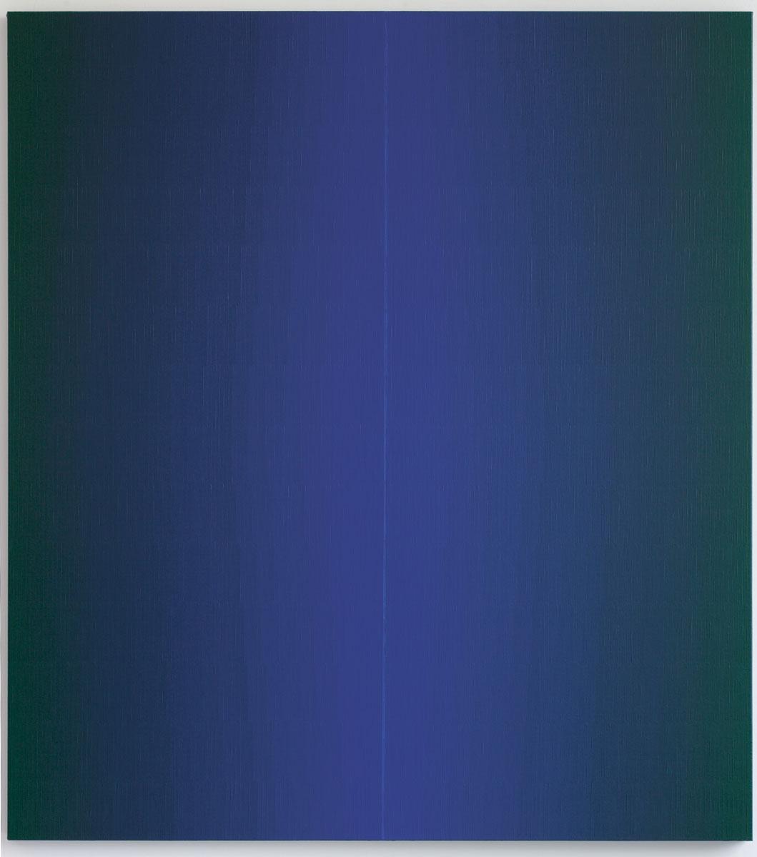 Johannes Geccelli, Im Schatten, 2006, 200×180 cm; Brandenburgisches Landesmuseum für moderne Kunst, Dieselkraftwerk