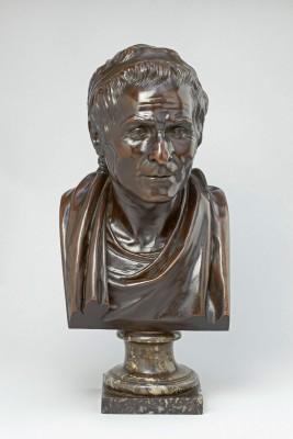 Jean-Antoine Houdon, Jean-Jacques Rousseau, 1780, Höhe 57 cm; Liebieghaus Skulpturensammlung, Frankfurt am Main