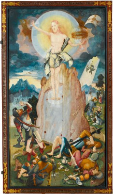 Jerg Ratgeb, Die Auferstehung Christi, die rechte der vier Tafeln der Festtagsseite