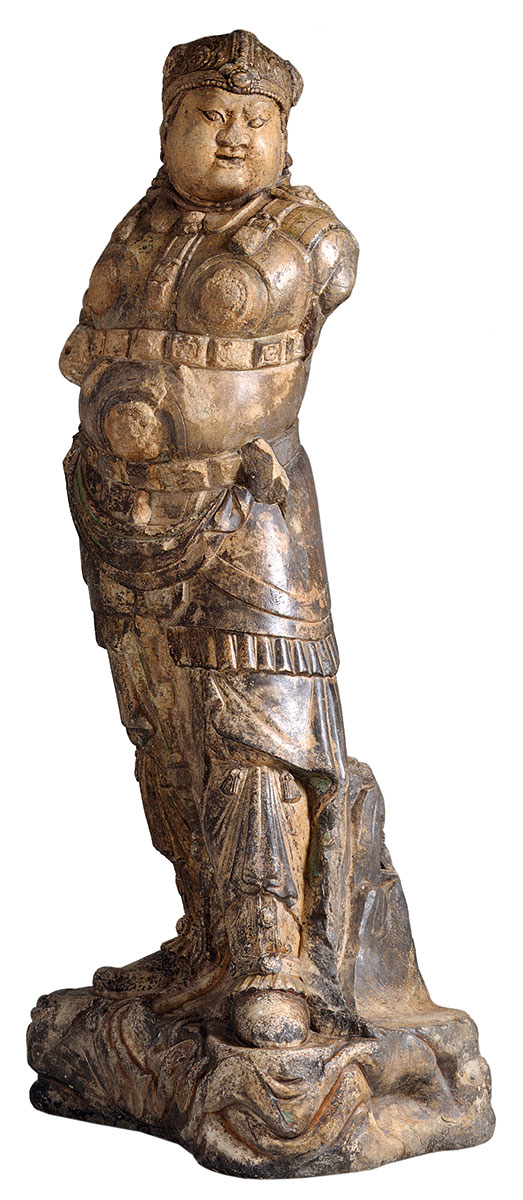 Wächterkönig (Lokapala), Marmor, China, Tang-Dynastie, 9./10. Jh., Höhe 122 cm; Museum für Ostasiatische Kunst, Köln