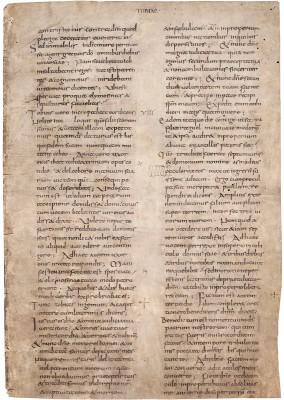 Fragment der Lorscher Vollbibel, um 800