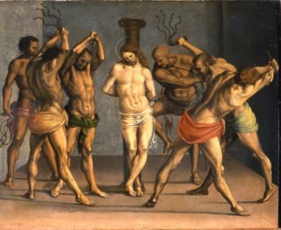 Restaurierung umbrischer Tafelbilder, Lindenau-Museum Altenburg (Luca Signorelli, Geißelung Christi, 1508)