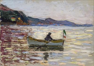 Wassily Kandinsky, Rapallo – Boot im Meer, 1906, 23,9×33 cm; Franz Marc Museum, Kochel am See