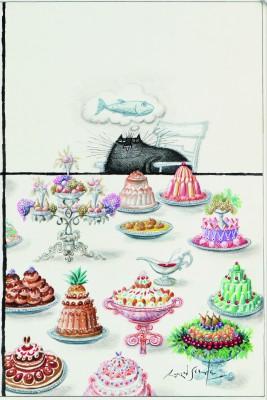 Ronald Searle, Die haben alle etwas gegen mich, 1972 (The New Yorker, 17. Februar 1973, Titel) Deutsches Museum für Karikatur und Zeichenkunst - Wilhelm Busch