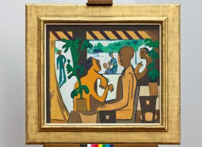 """Ernst Ludwig Kirchner, """"Braune Figuren im Café"""" von 1928/29"""