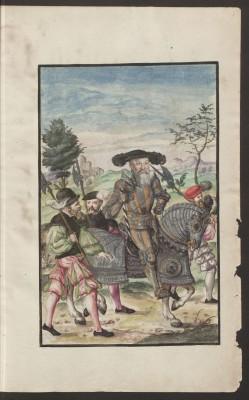 Kriegsordnung, Blatt 5, Abbild von Markgraf Albrecht von Brandenburg-Ansbach Abb.: Staatsbibliothek zu Berlin - PK