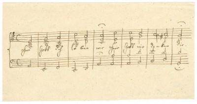 Felix Mendelssohn Bartholdy: Herr Gott Dich loben wir Herr Gott wir danken dir. Musikalisches Blatt