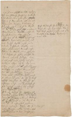 Briefentwurf Felix Mendelssohn Bartholdys an den sächsischen König Friedrich August II. Foto: HMT