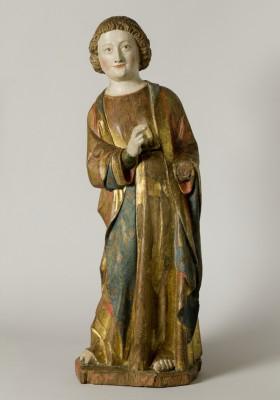 Holzskulptur des Evangelisten Johannes, 14. Jahrhundert
