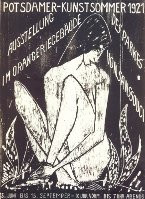 Otto Mueller, Plakatdruck zur Ausstellung Potsdamer Kunstsommer 1921 Foto: Potsdam Museum
