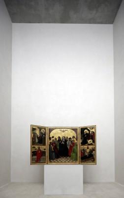 Erstpräsentation in Raum 21 von Kolumba (Raumhöhe 11,5m)