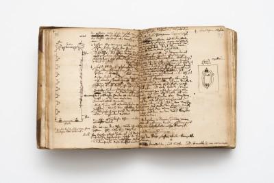 Innenseite des Reisetagebuchs von Johann Andreas Silbermann, 1741; Sächsische Landesbibliothek – Staats- und Universitätsbibliothek Dresden