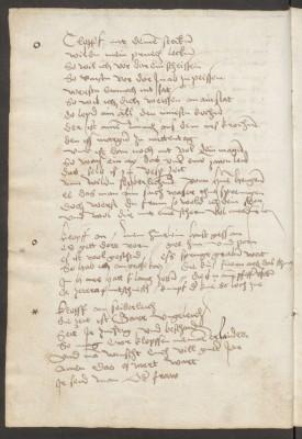 deutsche Sammelhandschrift aus dem Besitz der Grafen von Brandis, hier: Klopf-an-Sprüche Abb.: Staatsbibliothek zu Berlin - PK