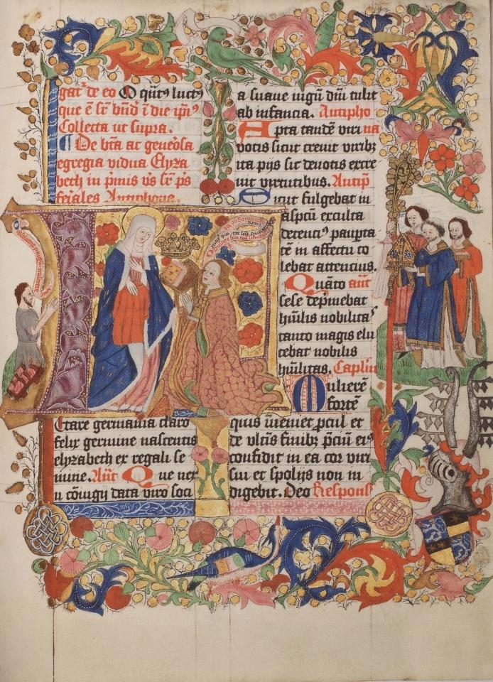 Fol. 209v des Breviers von Erzbischof Hermann von Hessen (Sommerteil), um 1485, 18,2 x 13,2 cm, © Historisches Archiv der Stadt Köln