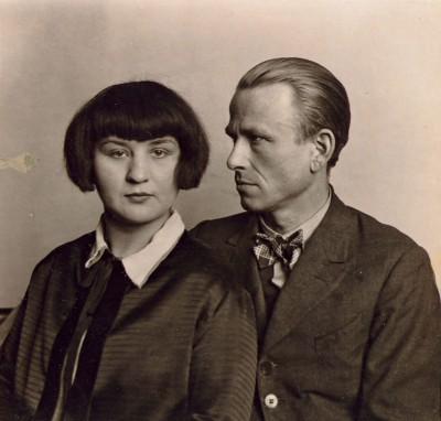 August Sander, Martha und Otto Dix, 1925 Silbergelantine, 18 x 18,7 cm, Städel Museum; © Photograph. Samml./Sk Stiftung Kultur - A.Sander Archiv, VG Bild-Kunst, Bonn 2011