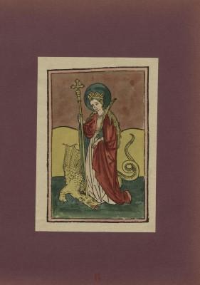 Hl. Margaretha, Holzschnitt, um 1470