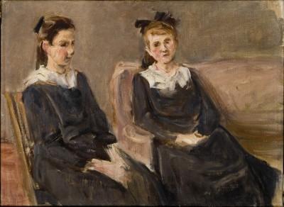 """Max Liebermann, """"Bildnis der Schwestern Hertha und Hilde Böhm"""" von 1917"""