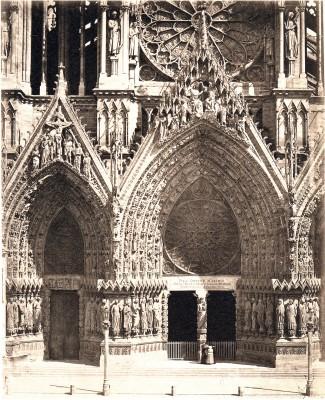Frères Bisson, Reims: Westfassade der Kathedrale, 1858 Albumin, 45 x 36,6 cm, Städel Museum, Frankfurt am Main