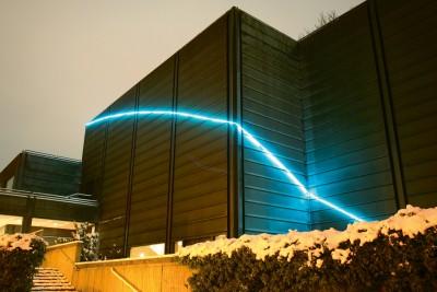 Francois Morellet, Skyline, Spannweite 83 Meter; 2010; Museum Bochum, Foto: Lutz Leitmann /Stadt Bochum, Presseamt