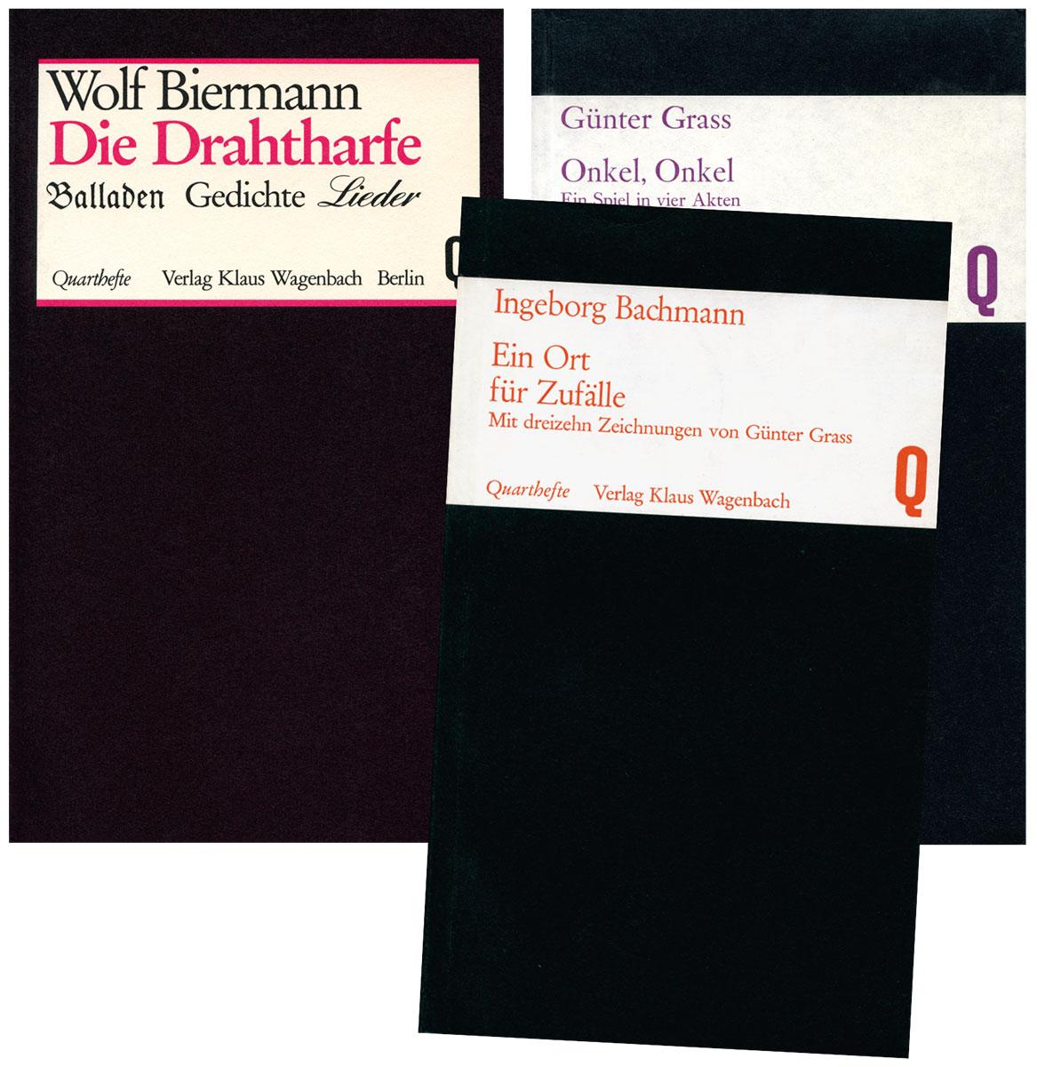Wagenbachs Quarthefte, die erste Publikationsreihe des Verlages Klaus Wagenbach © Verlag Klaus Wagenbach