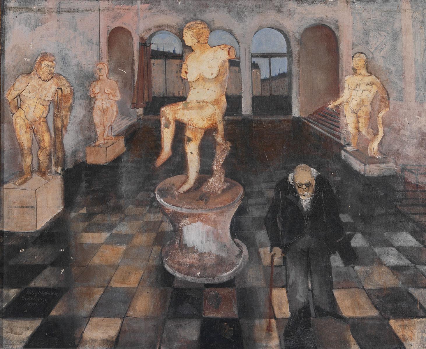 Felix Nussbaum, Antikensaal, 1930, 57,2 × 76,2 cm; Felix-Nussbaum-Haus Osnabrück